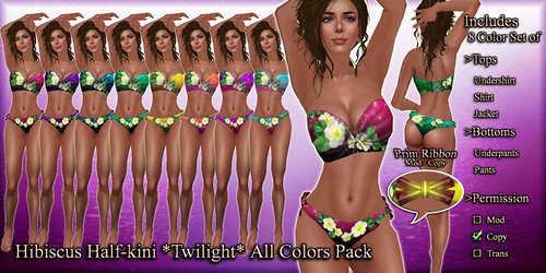Hibiscus Half-kini Twilight (All Colors)1
