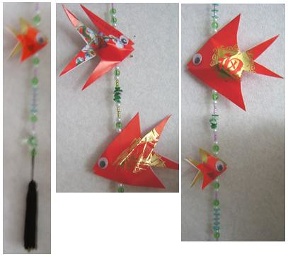 CHINESE ORIGAMI FISH  EMBROIDERY  ORIGAMI