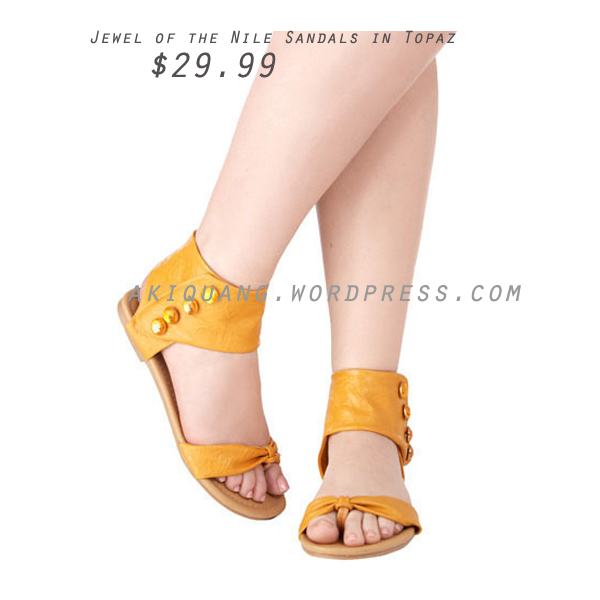 Jewel of the Nile Sandals in Topaz