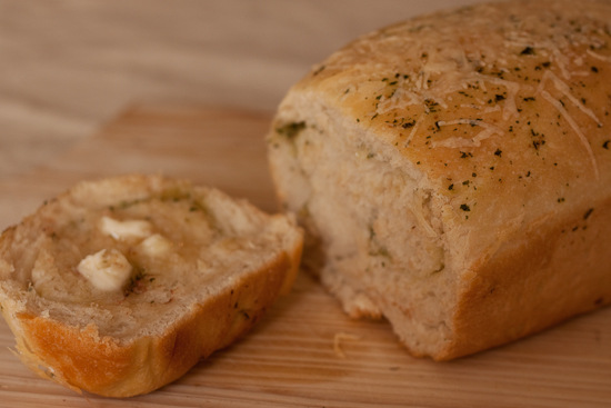 Pesto and Parmesan bread