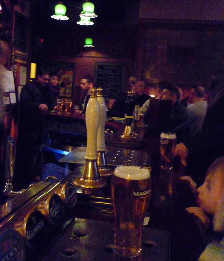 Busy bar at the Beehive