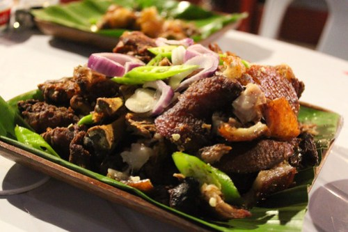 Crispy Pata at Obsidian Bar and Grill