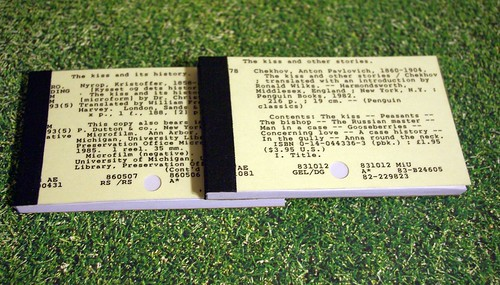 Card Catalog Notepads