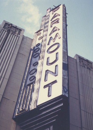 Paramount Theatre Sign Boston 1984