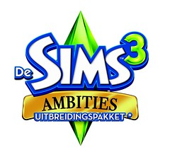 The Sims 3 Ambitions hi-quality Dutch logo and final boxart