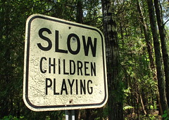 Aged Sign - Slow Children Playing