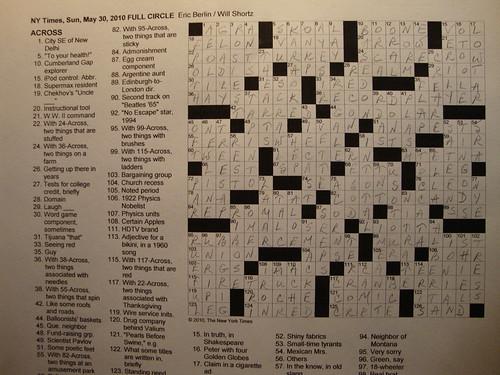 NYT Sunday Puzzle - May 30, 2010
