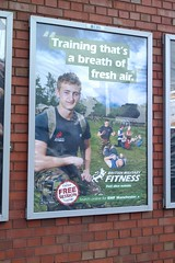 British Military Fitness poster of James in Ma...