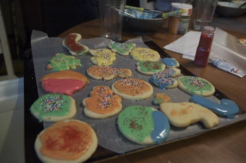 December Birthday lunch, cookie decorating