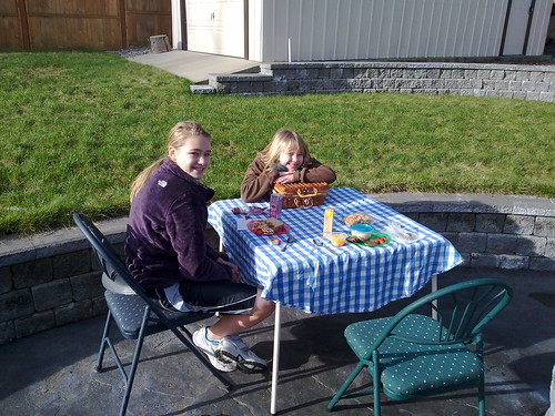 Picnic outside in January