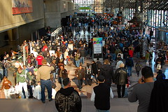 Motorcycle crowd at The Javitz