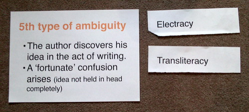 Empson, the 5th type of ambiguity & literacies