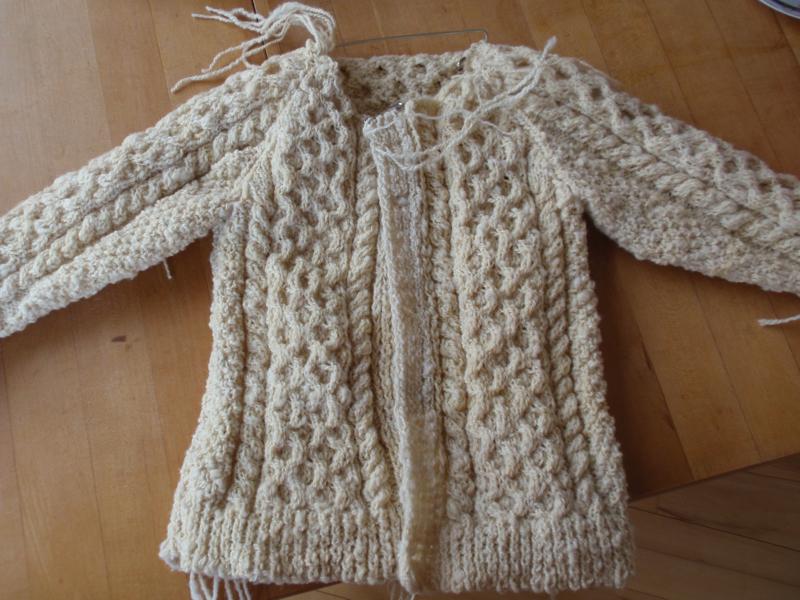 Handspun aran sweater