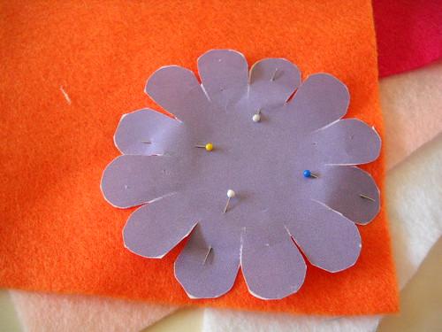 Spring Felt Flower Wreath Tutorial