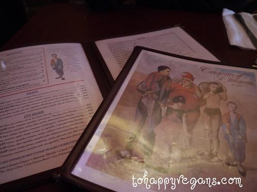 Caravan of Dreams menu, NYC