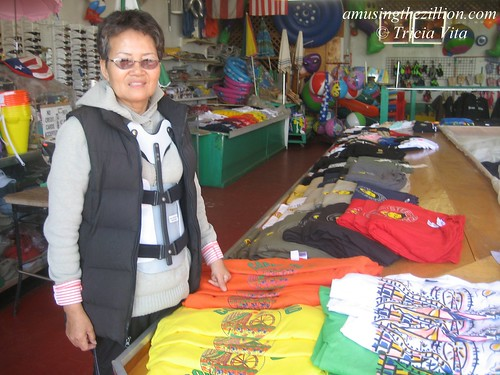 Mrs. Suh in her family's souvenir shop on the Boardwalk. Photo © Tricia Vita//me-myself-i via flickr