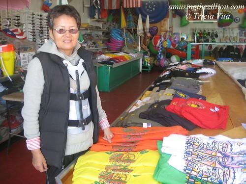 Mrs. Suh in her family's souvenir shop on the Boardwalk. Photo © Tricia Vita//me-myself-i via flickr