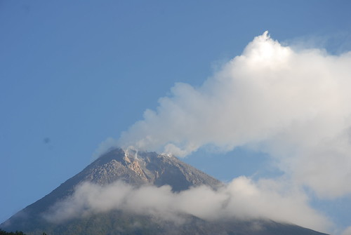 Indonesia's Mount Merapi volcano regularly emits plumes of smoke and ash.