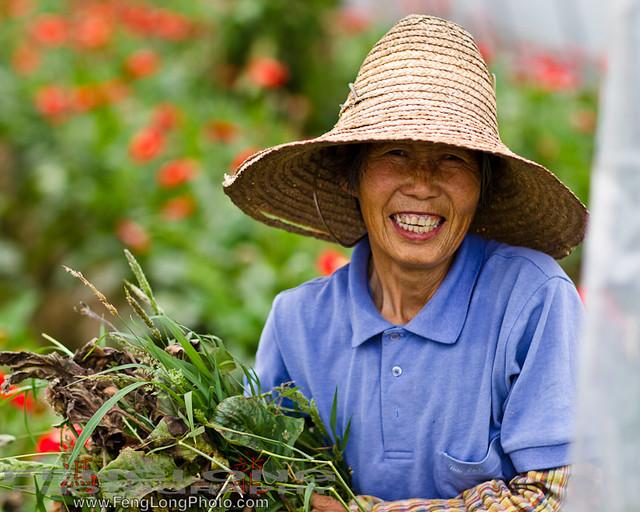 Farmer in Jinshan District, Shanghai, China