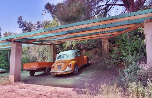 Orange VW Käfer