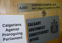 Calgarians Against Proroguing Parliament