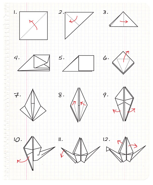 'i do' it yourself: DIY project: origami paper cranes