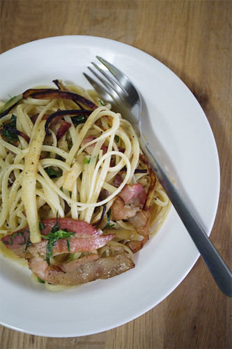 Bacon parsnip pasta