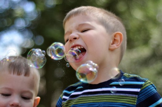 Yes, He Ate that Bubble