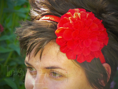 felt flower headband adult