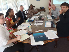 Natasha Fast, Angela Manning, Allan Ricketts (Project Manager), Geraldine Fairell, Ken Klanicki, Brad Lofton (Executive Director)
