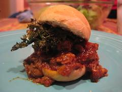 Pulled Pork Sliders with Crispy Kale