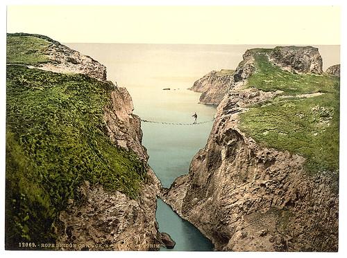 [Rope Bridge, Carrick-a-Rede. County Antrim, Ireland] (LOC)