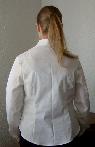 white collared shirt back