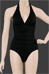 LaVieEnRose-Classic Elegance One piece halter swimsuit