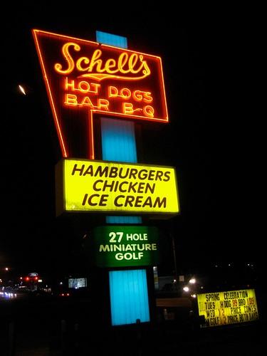 Schell's Hot dogs Bar B Q