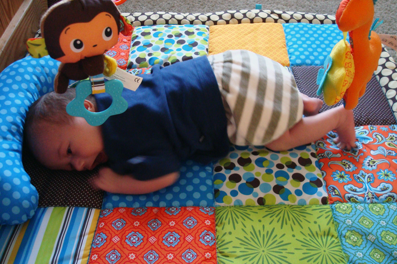 enjoying the play mat