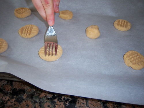Squishing Peanut Butter Cookies
