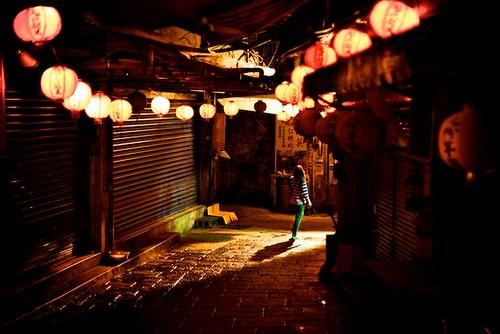 Jeoufen Old Street, at night.