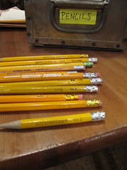 all the pencils
