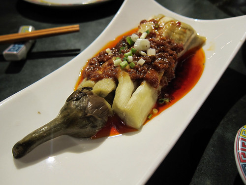 Steamed Aubergine with Chilli Shrimp Paste