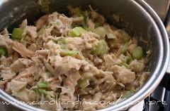 24. Torta de frango com alho poró - preparo