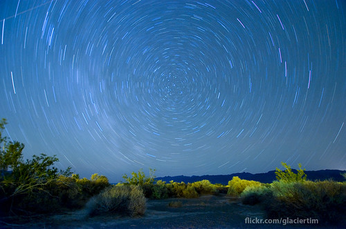 Circle of stars in Death Valley