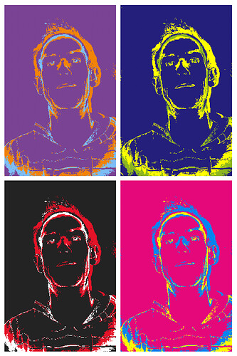 HTCDesire-Warhol effect on FX Camera app