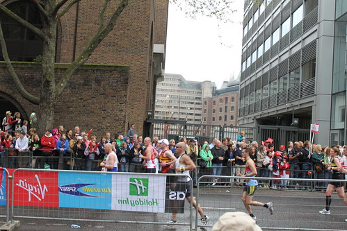 London Marathon, near St Katharine's Dock