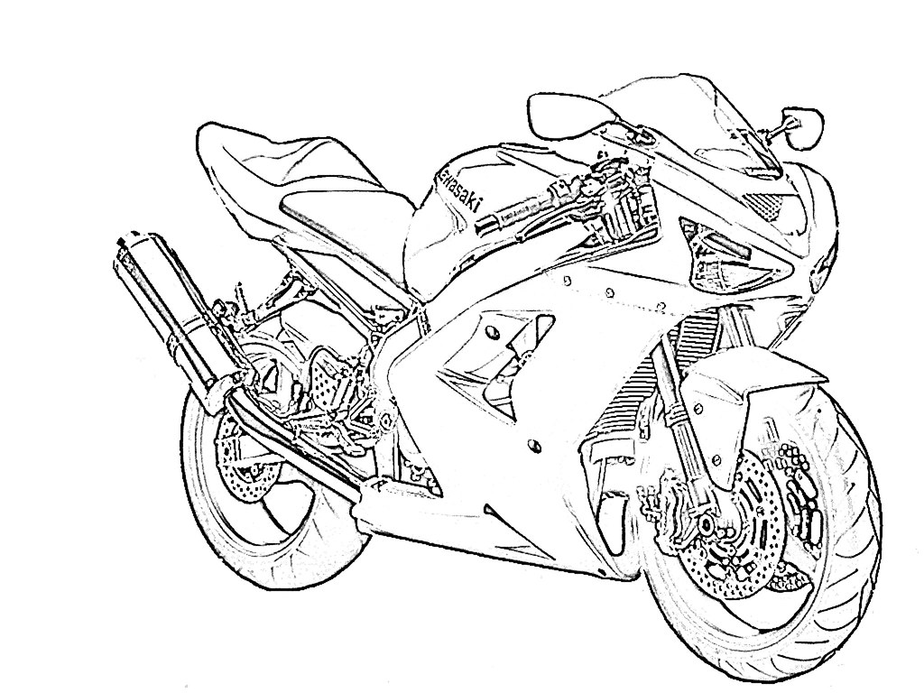 Kawasaki Ninja Coloring Pages Coloring Pages