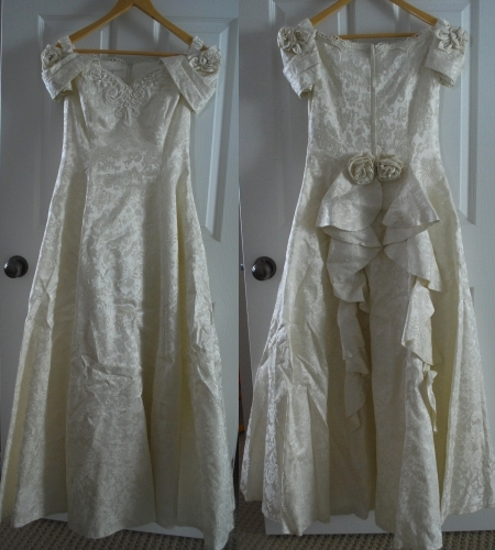 Wedding Dress, Front and Back
