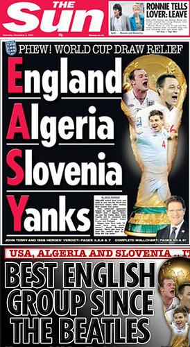England Algeria Slovenia Yanks