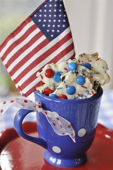Red White & Blue Cookie Bark