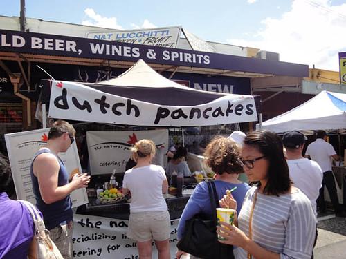 Norton Street Italian Festa: Dutch pancakes