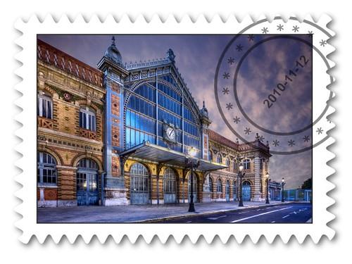 Correos España lanza un sello conmemorativo de la antigua estación de tren de Almería, con una foto de Domingo Leiva